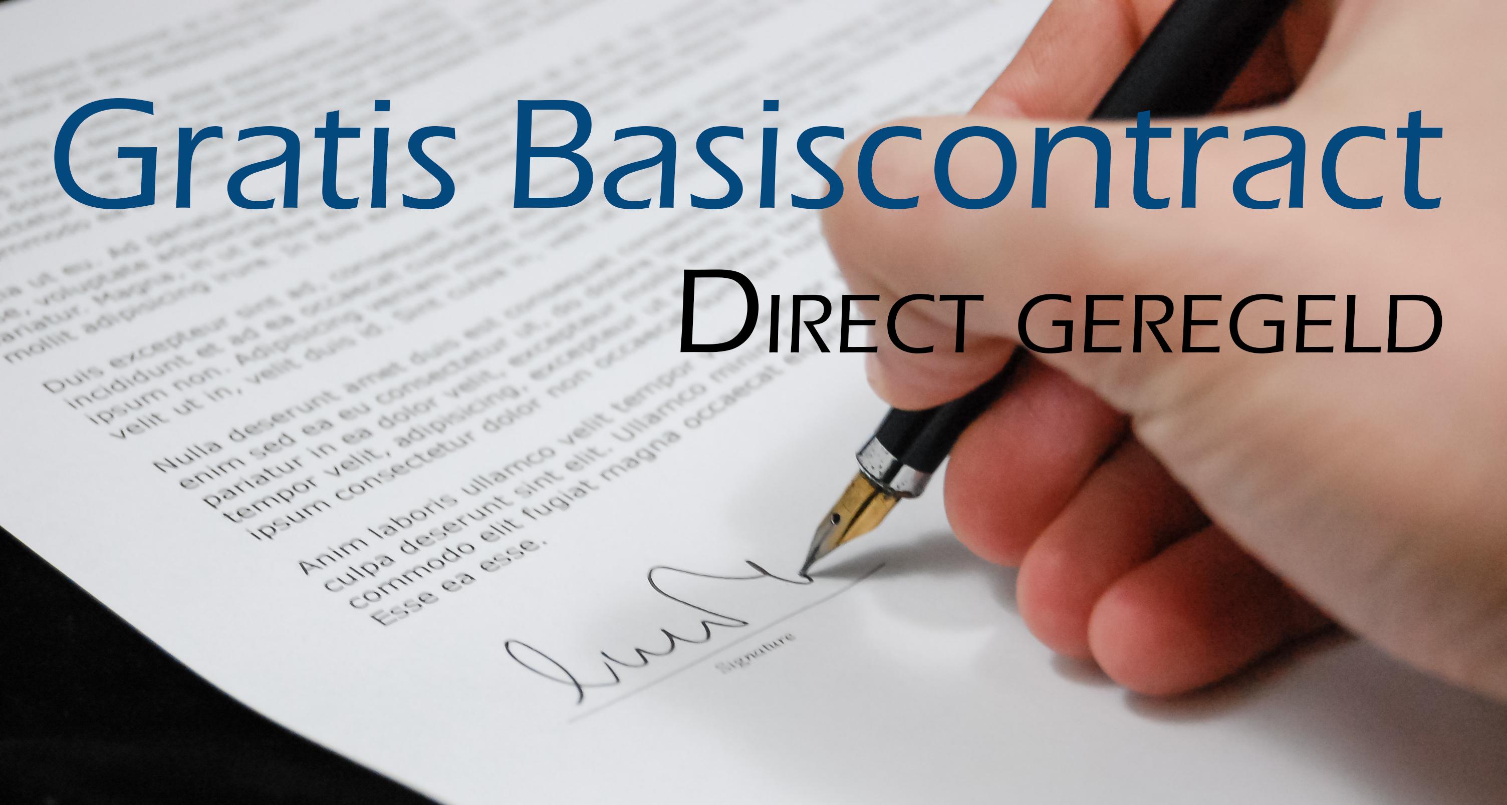 Gratis Basiscontract
